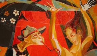 Closeup of Painting by Valeri Sokolovski
