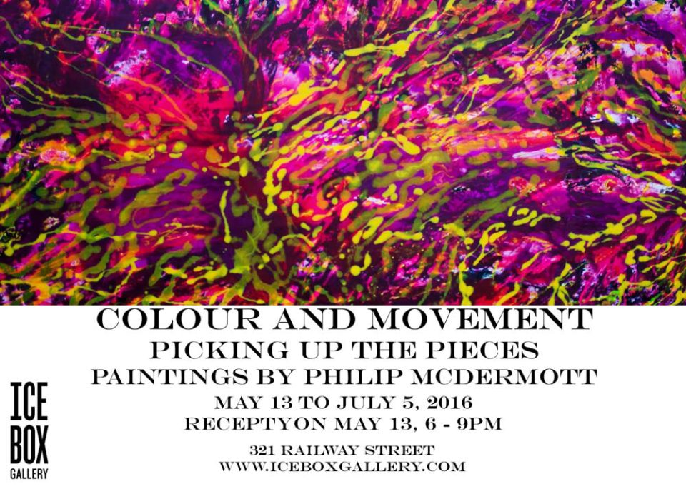 Phillip McDermott - Colour and Movement - postcard for exhibit