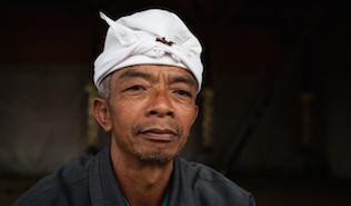Balinese Man - image by Scott Pownall