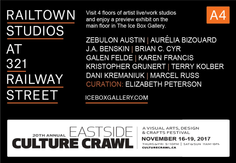 2017 Eastside Culture Crawl at Icebox Gallery